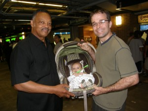 Jesse Jackson with Ultimate Sports Baby