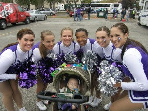 Ultimate Sports Baby with Northwestern Cheerleaders