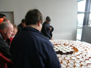 Beer Table in Club Level at Emirates Stadium