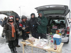 Tailgating in a blizzard at Soldier Field